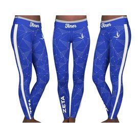 Alpha Phi Women/'s Fraternity  Sorority Leggings  Yoga Pants Officially Licensed Classic Greek Letters